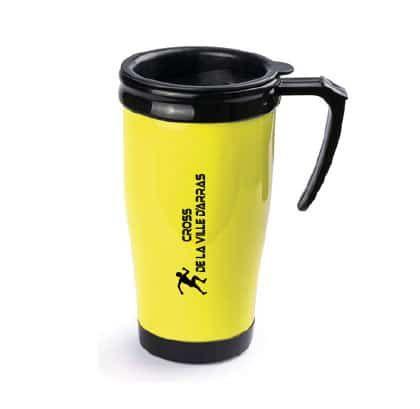 Mug jaune lot à créer avec votre marquage tarifs degressifs en ligne www.indyannapub.com