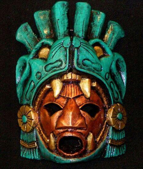 Large Aztec Warrior stone Mask.                                                                                                                                                                                 More