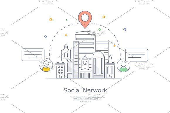 City social network by Artur Stotch on @creativemarket