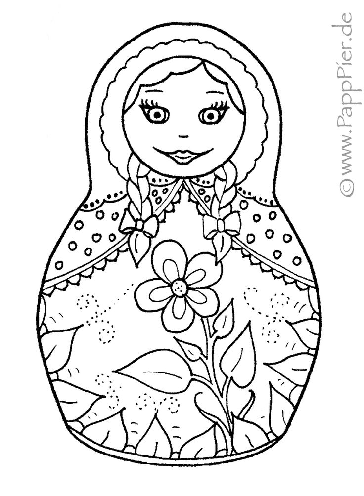 babushka coloring pages - photo#4