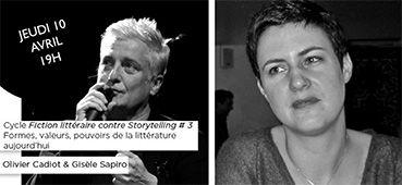 3e séance du séminaire-cycle de rencontres donné dans le cadre du projet « Fiction littéraire contre storytelling : un nouveau critère de définition et de valorisation de la littérature ? » coordonné par Danielle Perrot-Corpet (Université Paris-Sorbonne/CRLC) dans le cadre du Centre de Recherches en Littérature Comparée (CRLC, EA 4510) de l'université Paris-Sorbonne et du labex OBVIL(Observatoire de la Vie Littéraire : labex du PRES Sorbonne-Universités, ANR-11-IDEX-0004-02) .