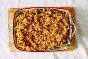 Vegan Thanksgiving: Green bean casserole