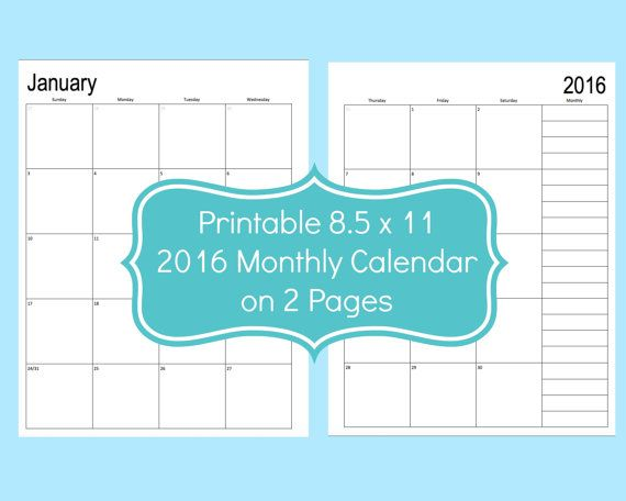 X Files Calendar : Printable blank calendar each month fits on pages