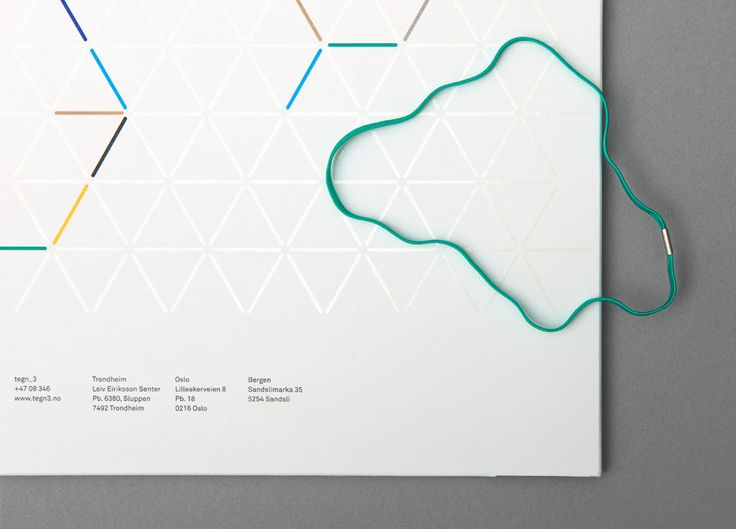 Folder design with UV varnish detail designed by Neue for Norwegian architecture studio Tegn_3