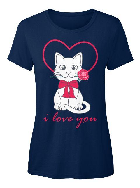 Cat Lovers Clothing   Women's T Shirt Navy Women's T-Shirt Front