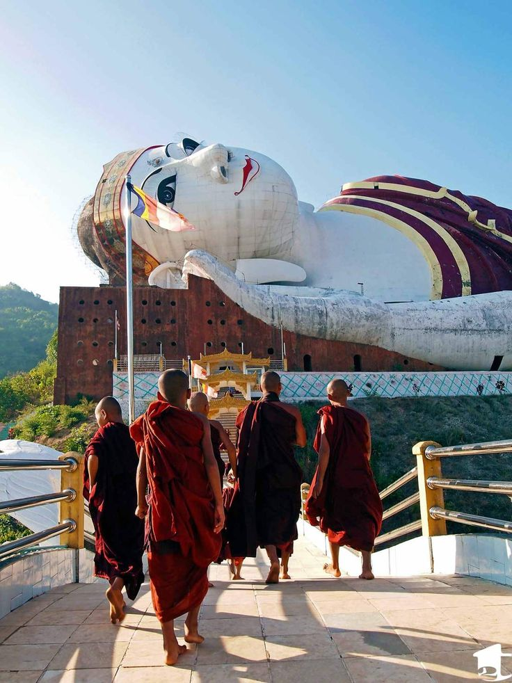 Win Sein Taw Ya- largest reclining Buddha in the world. 30 minutes from Mawlamyine