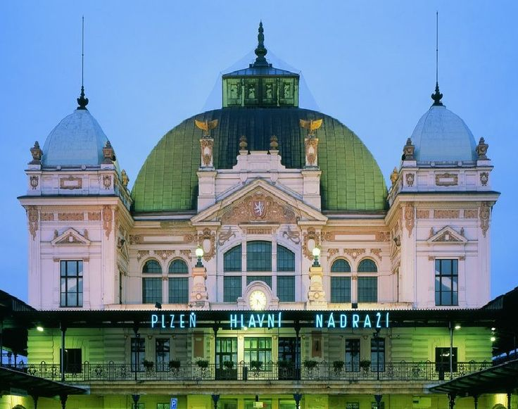 The building of Main station in Plzeň (Pilsen), Czechia #Czechia
