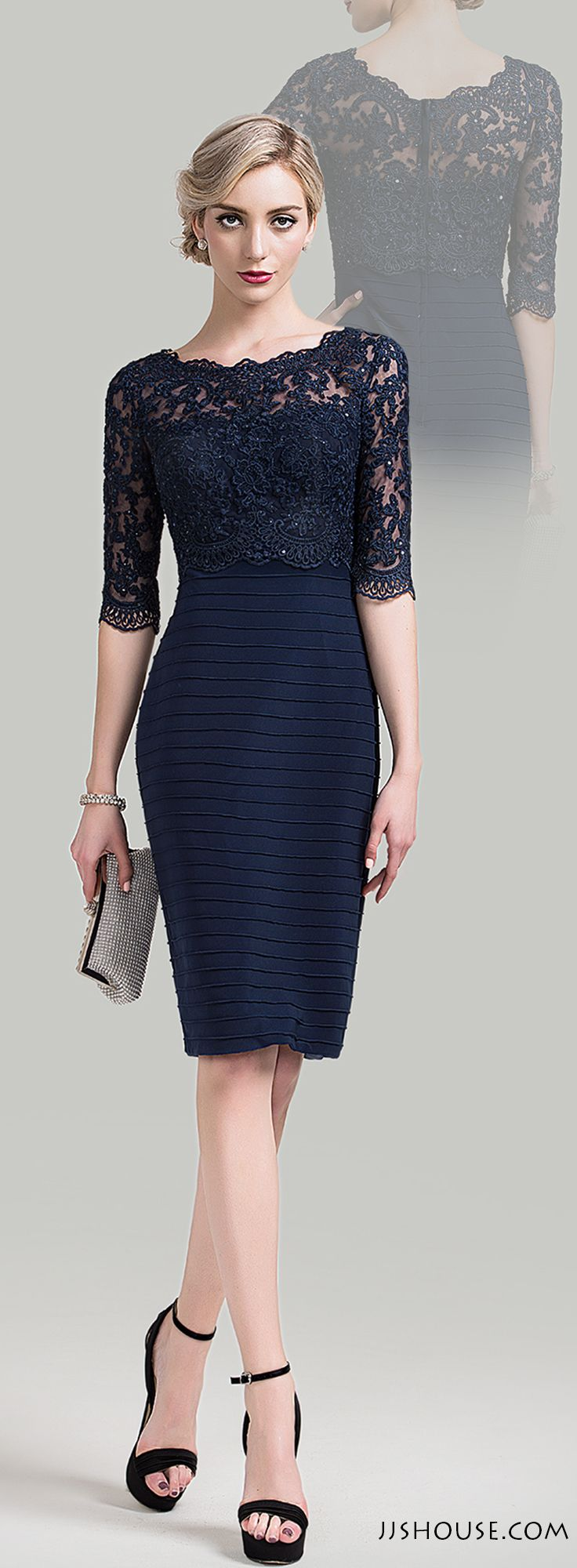 Chic and elegant. The ruffles and lace are so feminine and sophisticated. #Motherofthebridedress