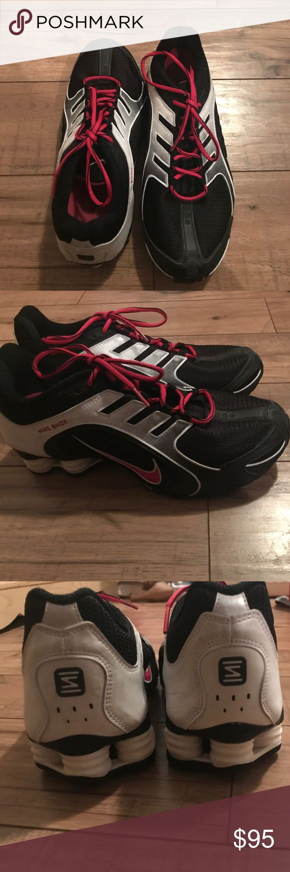 Women's Nike Shox Pink and black Nike shox. Gently used and only worn twice. Nike Shoes Athletic Shoes