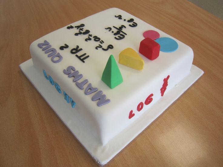 Pics Quiz Cake Art Mo : MATHS QUIZ CAKE!!!!   Back To School Cakes Pinterest