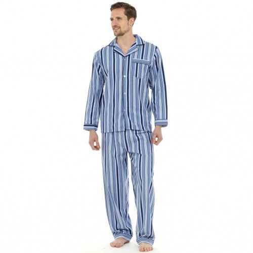 Herren Flanell-Schlafanzug / Flanell-Pyjama, Langarm