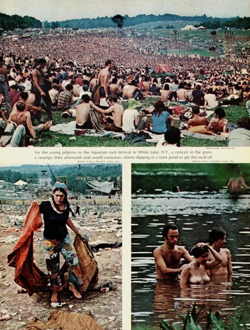 """nwkarchivist: """" Remembering Woodstock, 44 Years Ago I came upon a child of God He was walking along the road And I asked him, """"Where are you going?"""" And this he told me… I'm going on down to Yasgur's Farm, I'm gonna join in a rock and roll band. I'm..."""