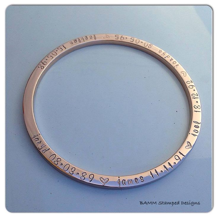 Handmade by BAMM Stamped Designs. Rose Gold Stainless steel bangle