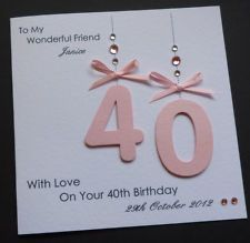 Handmade Personalised 30th 40th 50th 18th 21st - Any Age Birthday Card