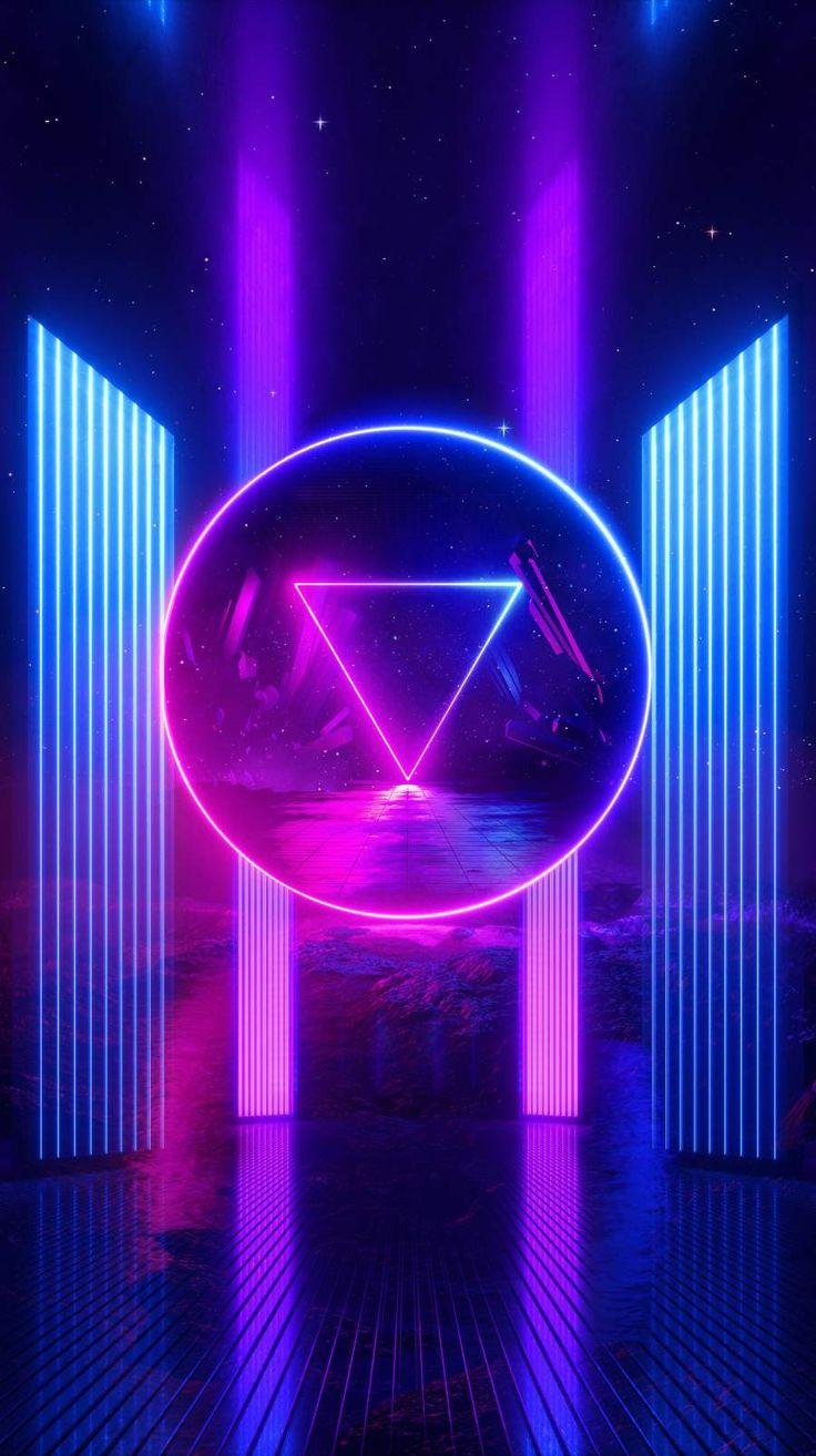 Neon Shine iPhone Wallpaper in 2020   Vaporwave wallpaper ...