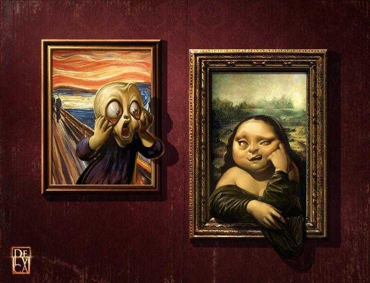 """The Scream vs. Mona Lisa!"" by *antoniodeluca"