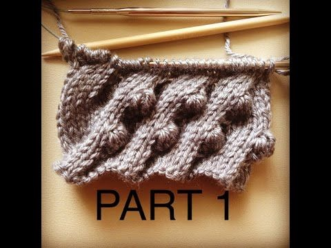 Bobble Cable Knitting Pattern Part I - YouTube