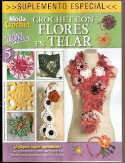 Revista de crochet con flores. Se descarga gratis
