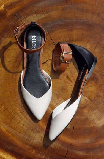Ankle strap flats.