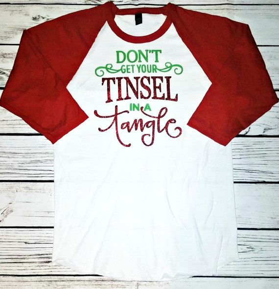 Don't get your tinsel in a tangle Christmas by GlamRightBoutique