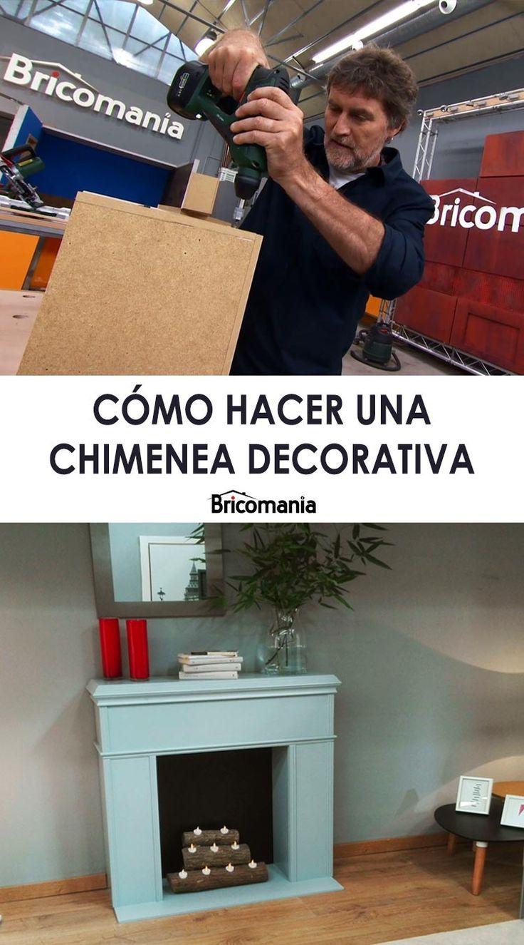 C mo hacer una chimenea decorativa bricolaje - Hacer chimenea decorativa ...