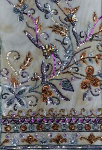 Embroidery Fabrics Beads %26 Sequin (Broderies Tissus 26% Perles Sequin)