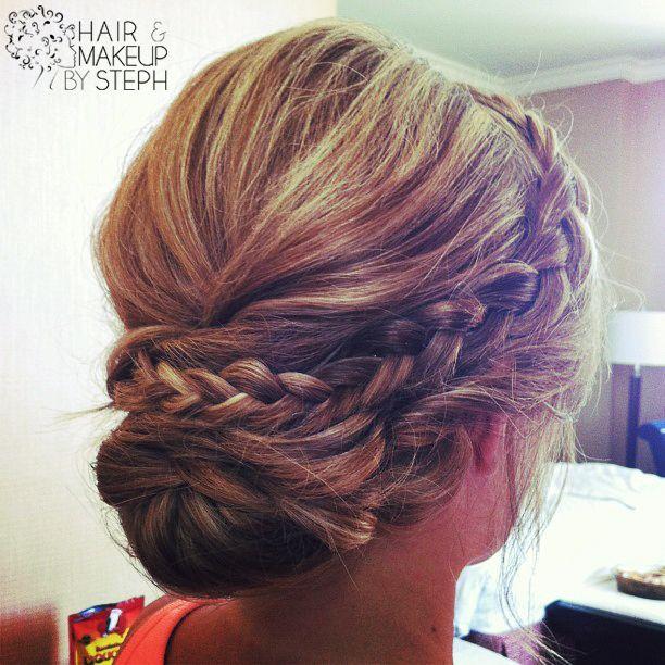 Simplistic casual but elegant braided updo. Beautiful.