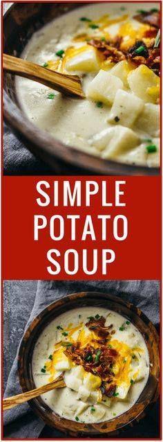 Creamy potato soup w Creamy potato soup with bacon and cheddar |...  Creamy potato soup w Creamy potato soup with bacon and cheddar | Cheesy potato soup | Simple potato soup | Comfort food | One pot dinner | Easy recipe Recipe : http://ift.tt/1hGiZgA And @ItsNutella  http://ift.tt/2v8iUYW