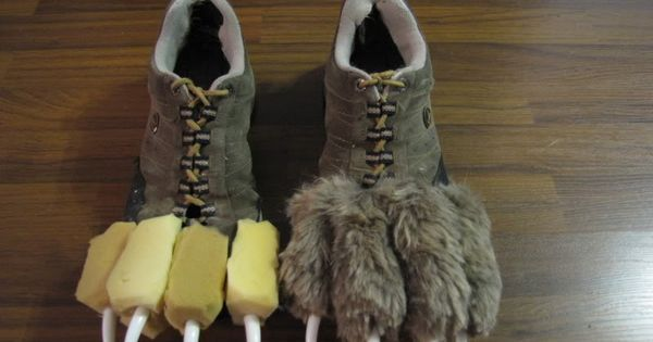 He used an old pair of shoes, some yellow foam we found, and some ... | See more…