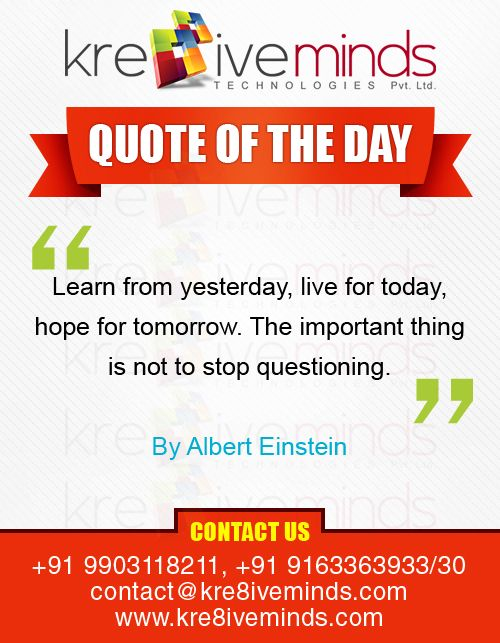 Quote of the Day! http://www.kre8iveminds.com/