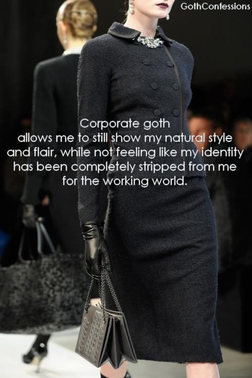 "Why is ""Corporate Goth"" an important and relevant style? Here's why. - JVH"