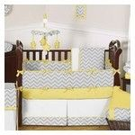 """Yellow Zig Zag Review by Amanda,Austin """"Had a hard time picking between the yellow and teal this set comes in. Ended up with you guessed it, yellow. I would probably be happy with either but I really love the yellow. I painted the nursery room walls a soft yellow and added the matching wallpaper border. I love the gray and white contrast, it gives my nursery a warm but modern feel...just what want I wanted. Got it for a great price and was sent out an extra """"gift"""" just because - so thank…"""