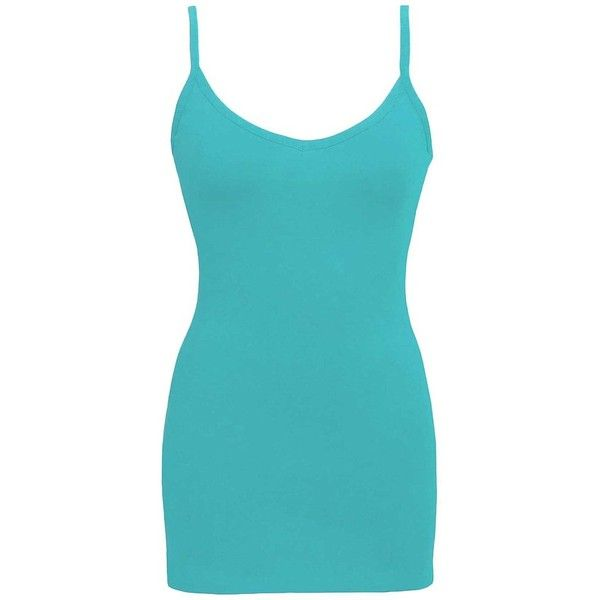 BKE Extra Long & Lean Tank Top - Blue/Turquoise Small ($5) ❤ liked on Polyvore featuring tops, turquoise tank top, blue tank, blue singlet, blue top and bke tops