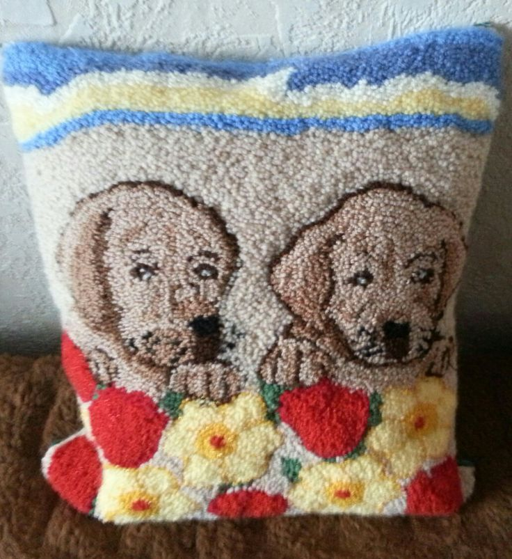 Lab Puppies - Punch Needle Rug Hooking