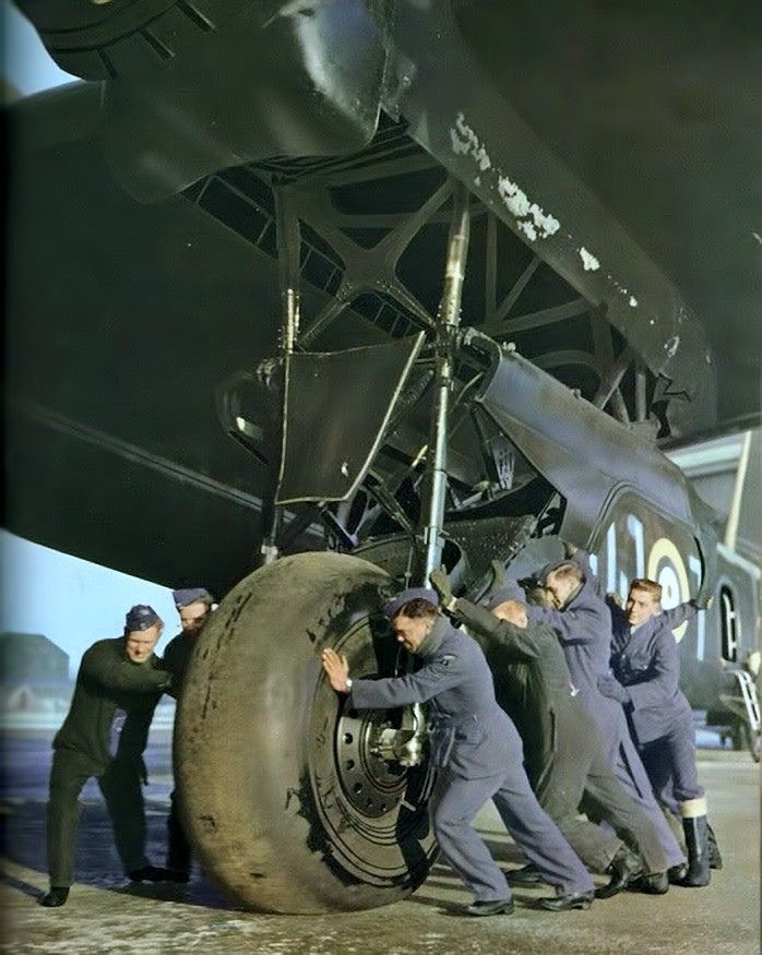 The Short Stirling was the first four-engined British heavy bomber of the Second World War. The Stirling was designed by Short Brothers to meet a Air Ministry specification from 1936. When the preferred design from Supermarine had to be abandoned, the Stirling was ordered for the RAF. It entered service in early 1941.