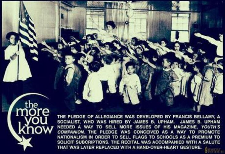 "BELLAMY SALUTE ""AKA"" THE PLEDGE OF ALLEGIANCE"