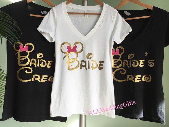 Disney Bride Shirt, Disney Bachelorette Party, Disney Bridesmaid Shirts, Disney Team Bride Shirts, Disney Bachelorette Weekend by ALLWeddingGifts
