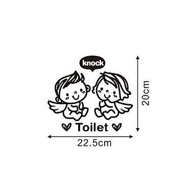 muurstickers moderne badkamer pvc muur stickers engelen klop het toilet - EUR € 5.45