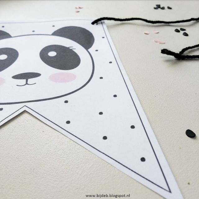 bijdeb: Panda thema feest pakket..