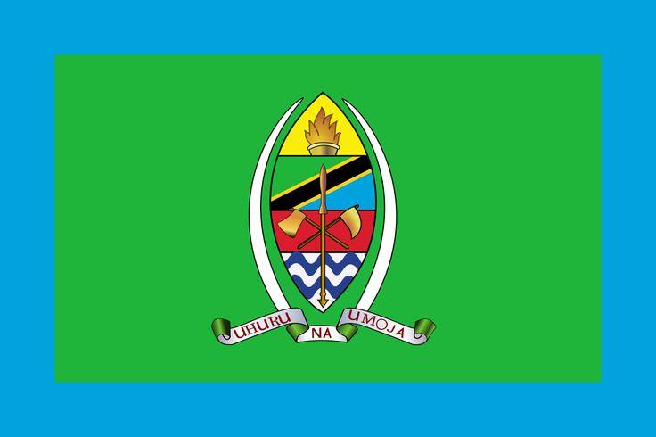Bandeira presidencial da Tanzania. Presidential Standard of Tanzania.