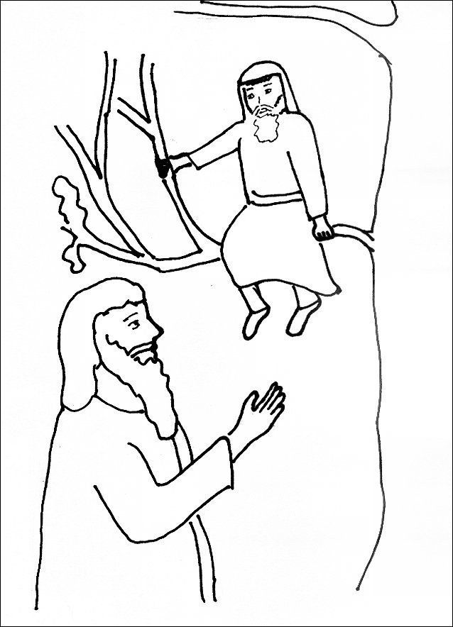 Zacchaeus Coloring Pages For Preschoolers 13 Unique Collection Jesus And Zacchaeus Coloring Page In 2020 Zacchaeus Coloring Pages Preschool