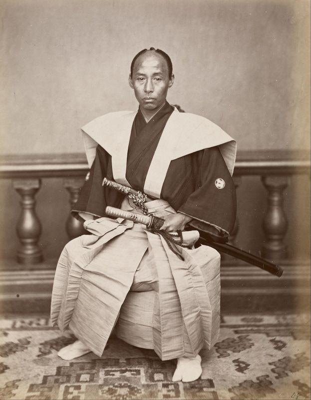 Samurai, Nagasaki, Japan, c 1890; Photographed by Ueno Hikoma    #Buddhism #China #Mysticism #Esoterism #Spirituality #Religion #Buddha #Chan #Zen