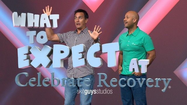 Watch What to Expect at #CelebrateRecovery. Where's the best place to be any night of the week? Celebrate Recovery! Watch as Tommy tries to tell Eddie what the steps are…and fails miserably. Don't worry, Eddie sets him straight in this funny introduction to some CR steps. Great way to break the ice and start your CR groups with #TheSkitGuys!