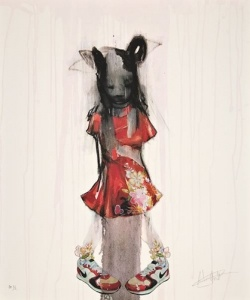 Antony Micallef - Girl in a Red Dress With Nike Trainers