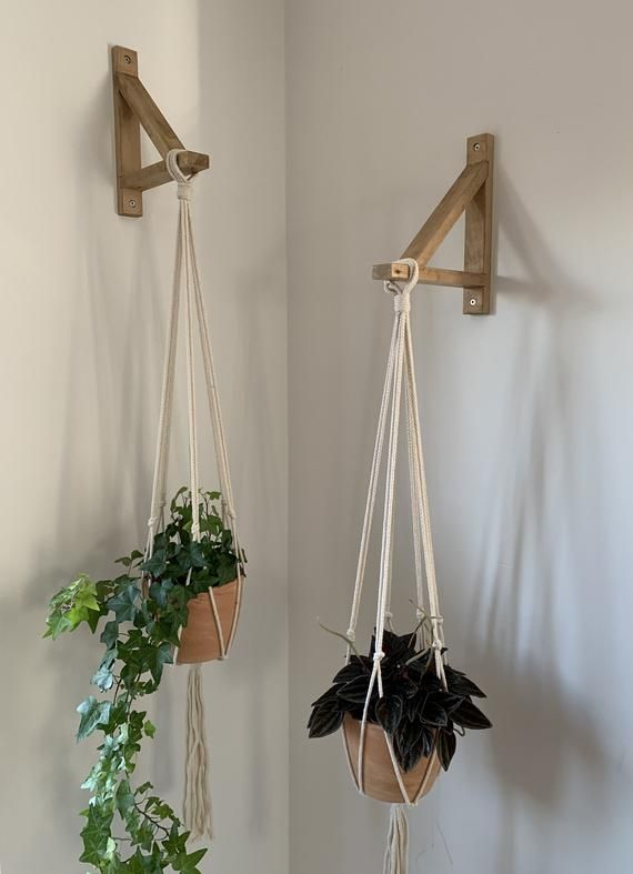 Hanging Planter With Bracket Hanging Wall Planter Hanging In 2020