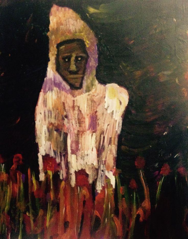 Pipacs, holdfény (40x50 acrylic on canvas)
