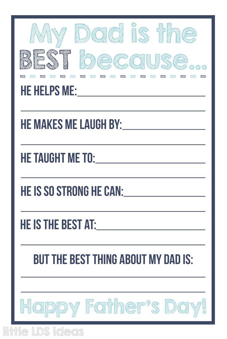 Best Dad Questionnaire