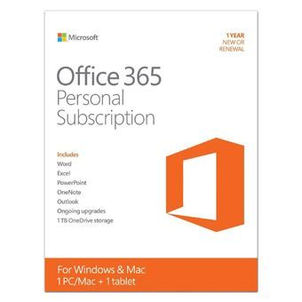 Buy Microsoft Office 365 Personal Mac/Win English Subscription P2 APAC EM 1 License Medialess online at Lazada. Discount prices and promotional sale on all. Free Shipping.