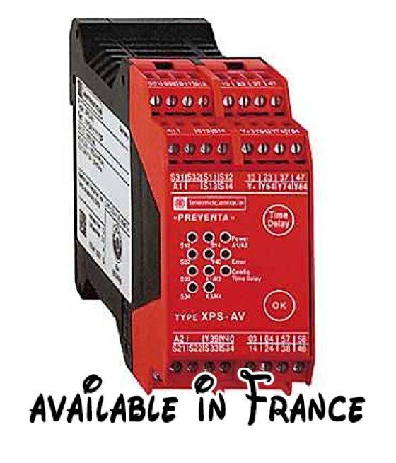Schneider electric xpsav11113p module XPS, av, arrêt d'urgence, 24V CC. Gamme: automatiz PREVENTA safety. Appliquer module sécurité: pour arrêt d'urgence et contrôle de commutateur. Type de démarrage: configurable #BISS Basic #ELECTRONIC_COMPONENT