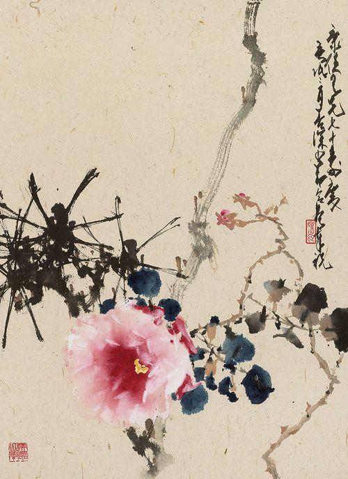 Peony Artist :Zhao Shao'ang (1905-1998) and Yang Shanshen (1913-2004)